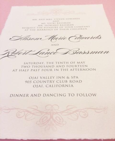 Italian Wedding Invitations From Hyegraph
