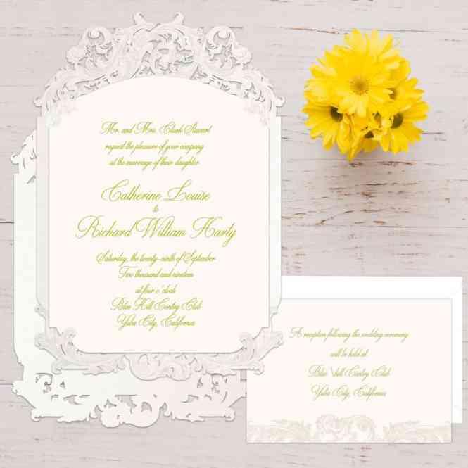 Laser Cut Wedding Invitations Dual