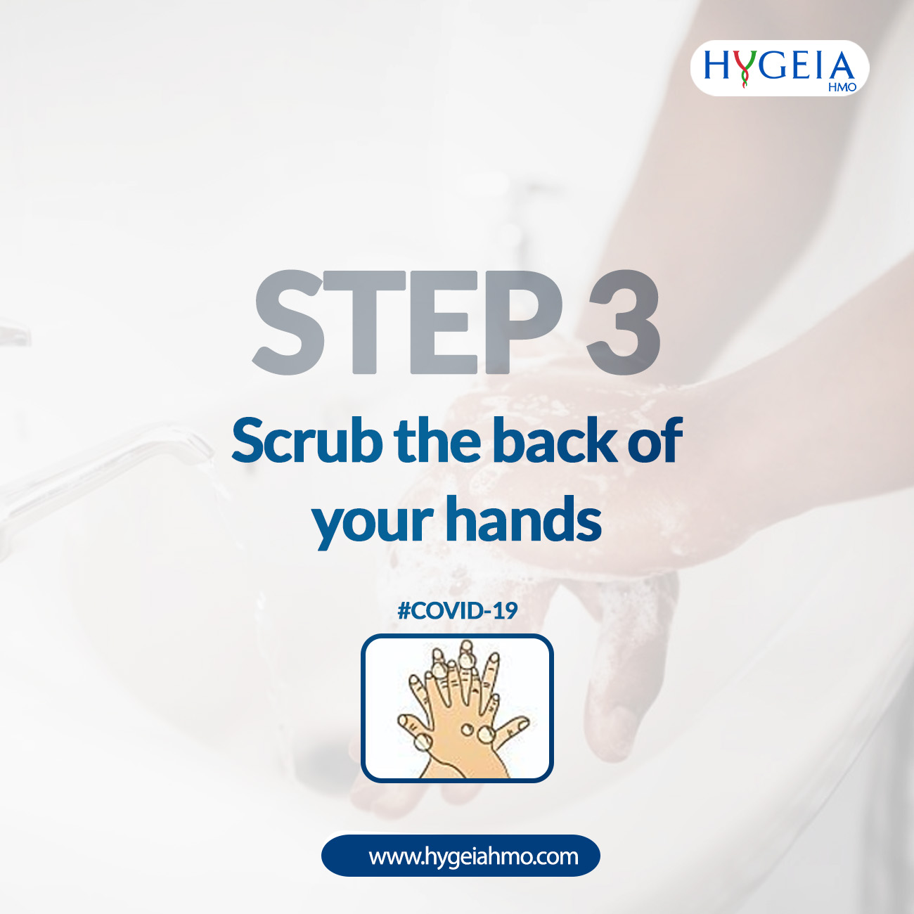 Steps to washing your hands