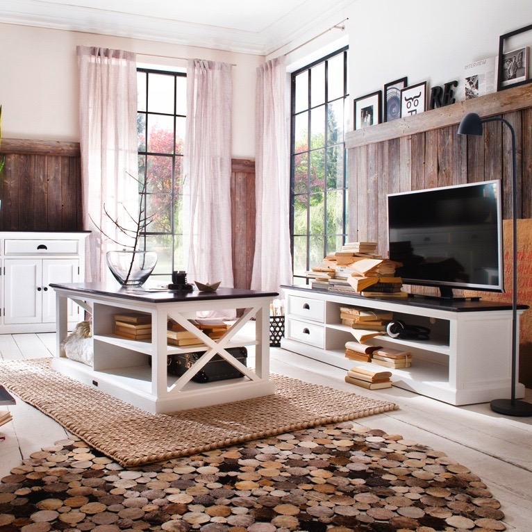 How to mix white furniture with wood ?