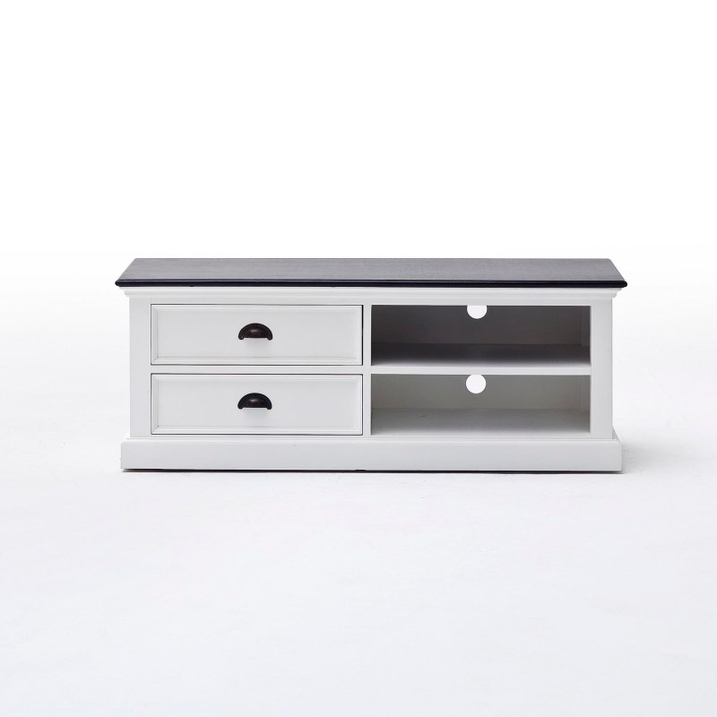 Halifax Contrast Entertainment Unit Medium with Two Drawers