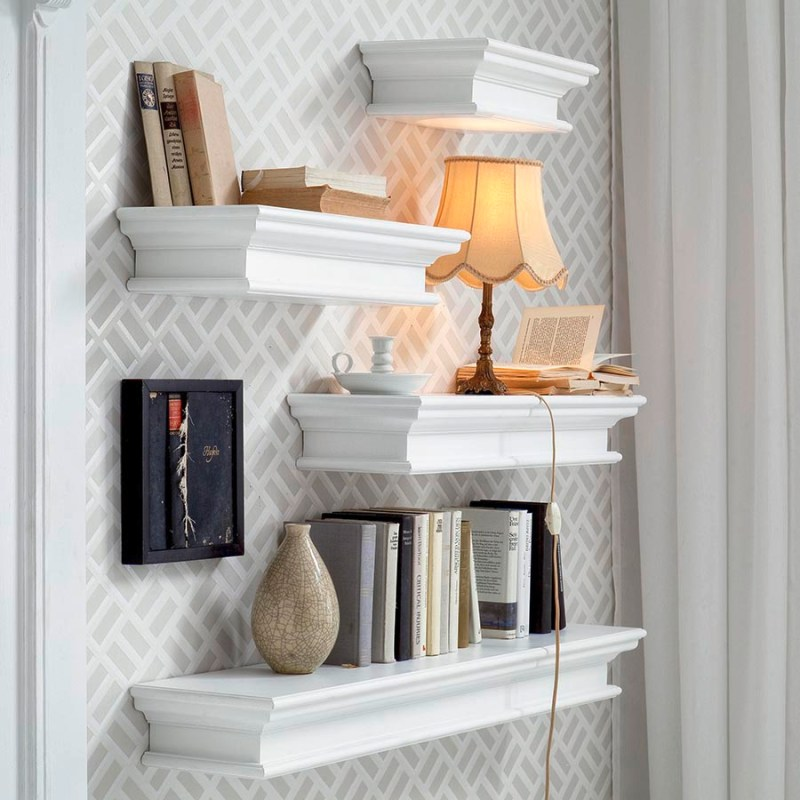 Halifax Floating Wall Shelf Long
