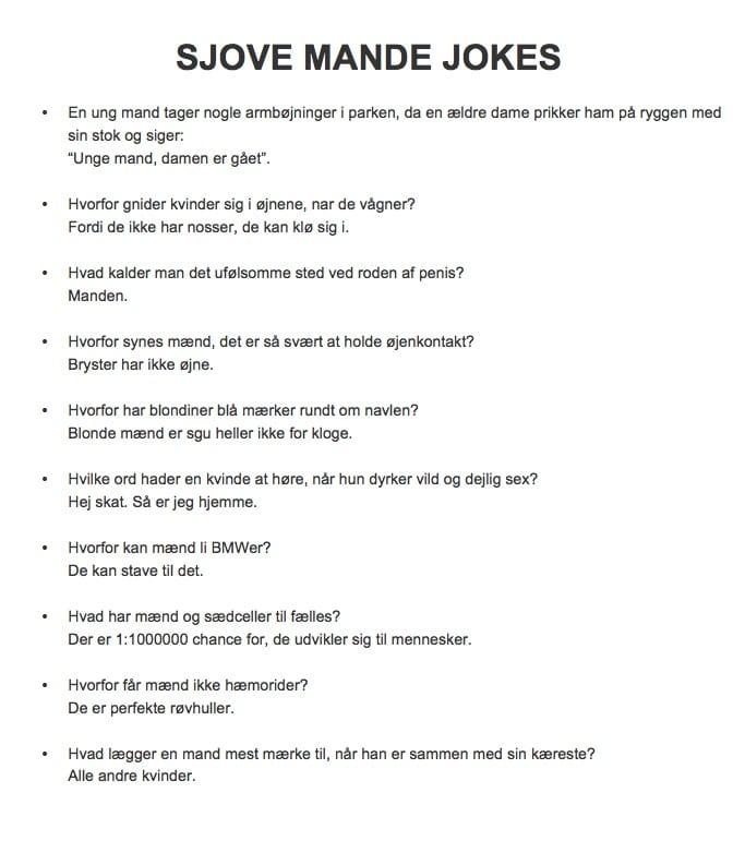 vittigheder om mænd