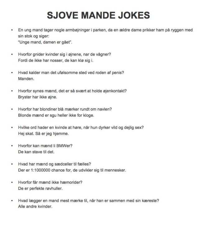 Sjove online dating vittigheder