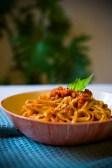 Fettuccine with vegan ragù