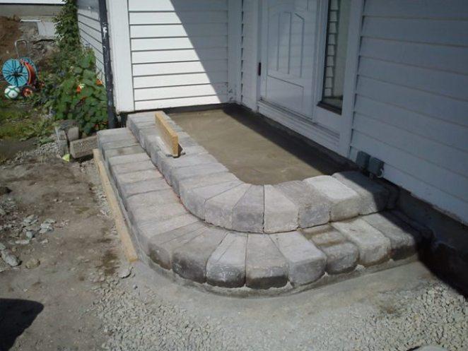 Betongstens trappen ferdig til stenlegging