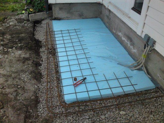 Armering av trapp i betongsten