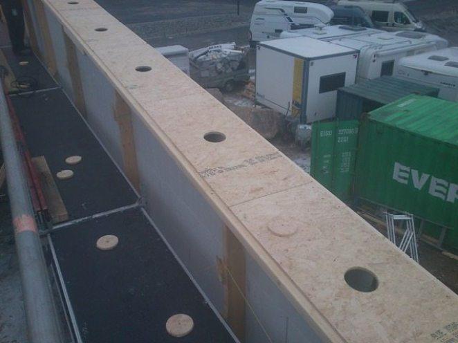 Betong støpt i vegger