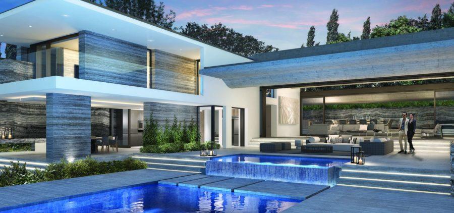 villa saint tropez avec fenêtres minimalistes sur mesure Hyline