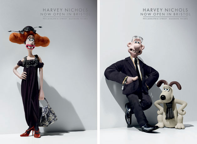Image result for wallace and gromit harvey nichols