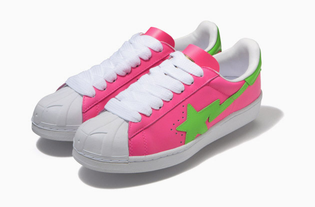 a-bathing-ape-skullsta-neon-sneakers-1 A Bathing Ape Skullsta Sneakers
