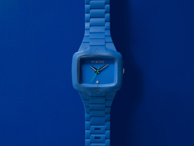 nixon blue rubber player watch 1 Nixon Blue Rubber Player
