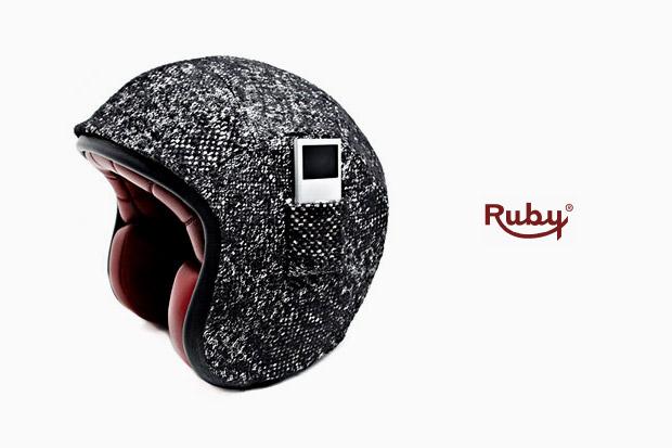 karl lagerfeld atelier ruby tweed ipod helmet Karl Lagerfeld x Atelier Ruby Tweed iPod Helmet