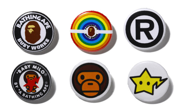 a bathing ape bape pin set A Bathing Ape Pin Set