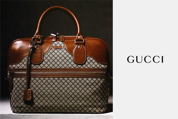 gucci diamante bag 1 Gucci Blue Diamante Fabric Duffle