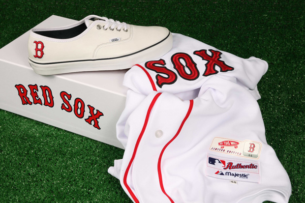 vans boston red sox pack 1  Vault by Vans x MLB Boston Red Sox Authentic LX for Bodega