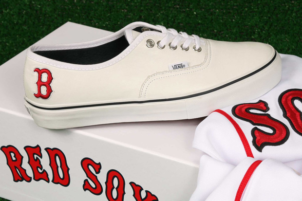vans boston red sox pack 4  Vault by Vans x MLB Boston Red Sox Authentic LX for Bodega