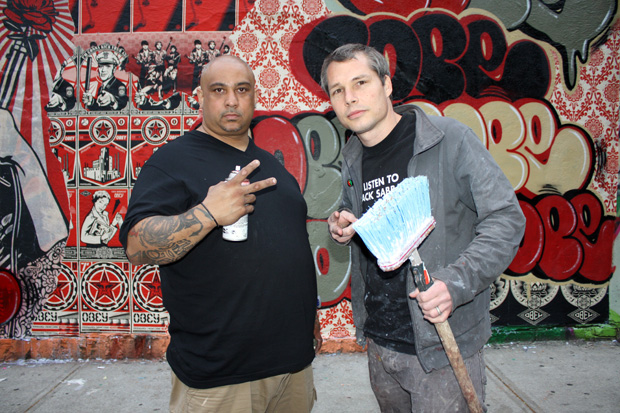 shepard fairey cope2 bronx mural 1 Cope2 x Shepard Fairey Bronx Mural