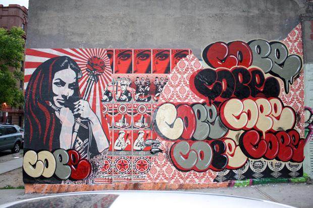 shepard fairey cope2 bronx mural 2 Cope2 x Shepard Fairey Bronx Mural