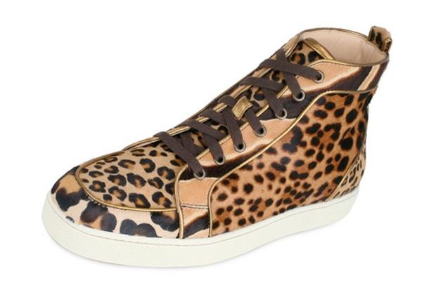 christian louboutin leopard pattern sneakers Christian Louboutin Leopard Pattern Sneakers