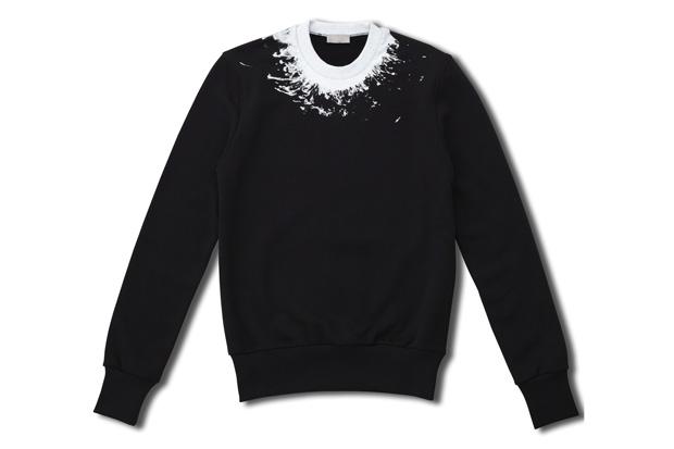 dior homme splatter crewneck sweater 0 Dior Homme Splatter Crewneck Sweater