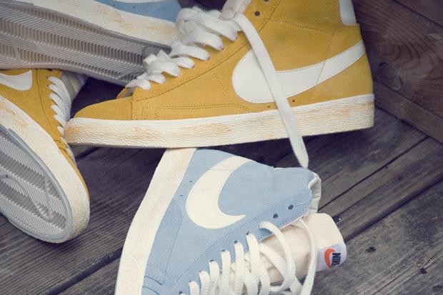 nike blazer hi vintage yellow blue Nike Blazer Hi Vintage Yellow & Blue