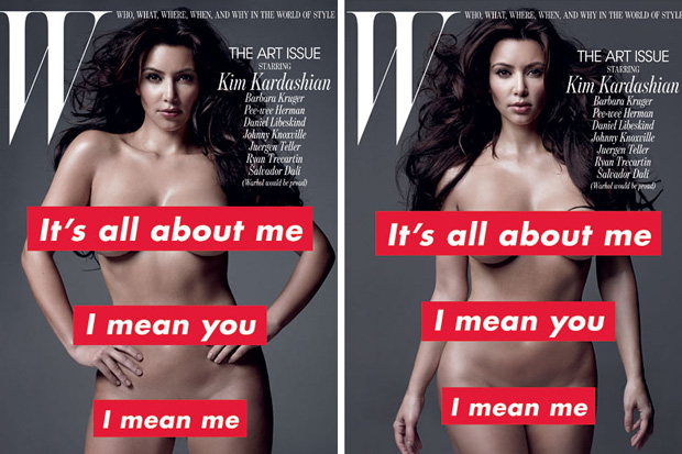 2010 by barbara kruger for w magazine feat kim kardashian 0 Untitled, 2010 by Barbara Kruger for W Magazine feat. Kim Kardashian