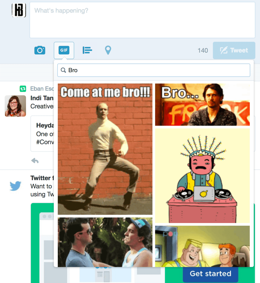 Twitter GIF Feature