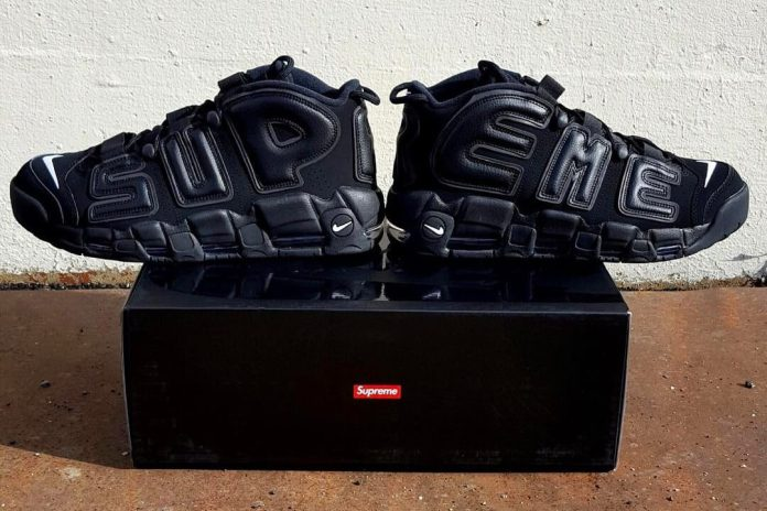 The Supreme x Nike Air More Uptempo