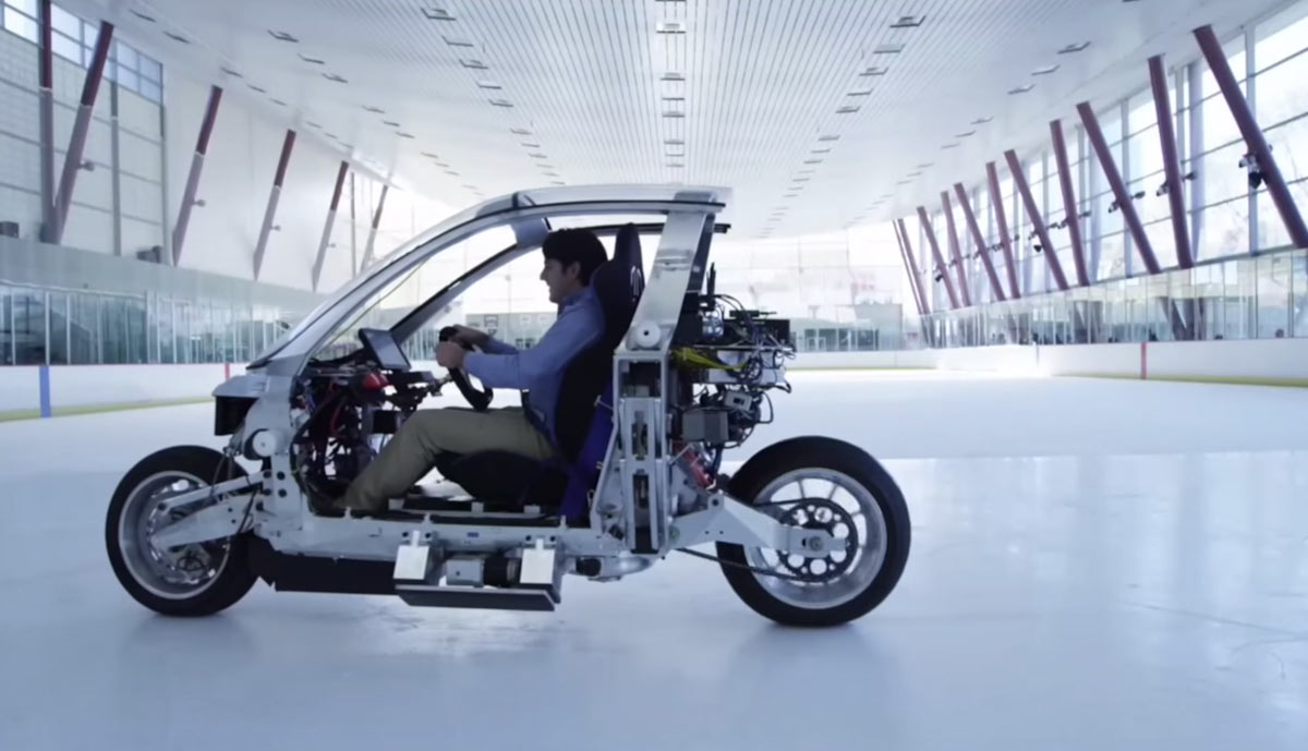 Gyroscope motorcycle lit motors