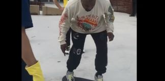 Kanye Learns How To Ollie