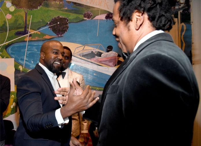 Jay-Z And Kanye West Friends