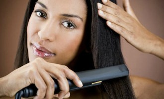 straightening natural hair