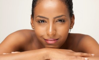 woman glowing skin