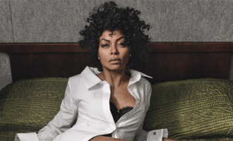 "Taraji P. Henson Hidden Figures ""I'm a pretty good actress. You could say that, right? Well, to play Katherine Johnson, a mathematician who figured out a way to get NASA astronauts into space, I had to be believable as a math expert—and I failed math in college. Precalculus looked like Chinese to me. Even with two tutors, I still failed. So God has an incredible sense of humor, because now I am playing a mathematician! Even on set, they would have a professor there to try and teach me. I said, 'Show me what I have to write and I'll memorize it, because I'm not gonna get it.' Take that, math! I won: I became an actress."" Monse shirt; La Perla bra; Forevermark by Natalie K earrings; Jimmy Choo shoes. Photographs by Craig McDean. Styled by Edward Enninful. Hair by Orlando Pita for Orlando Pita Play; makeup by Peter Philips for Dior. Manicures by Michelle Saunders for Essie at Forward Artists. Set design by Piers Hanmer."