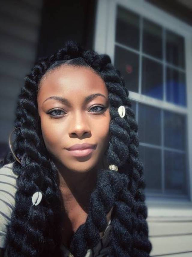 Black girl with two-strand twists