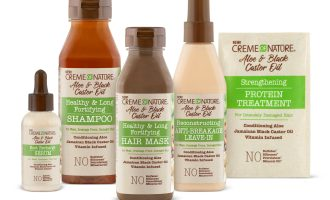 creme of nature aloe & black castor oil