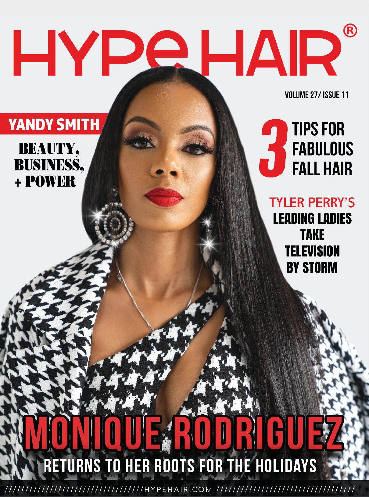 Monique Rodriguez Hype Hair November 2020 Cover