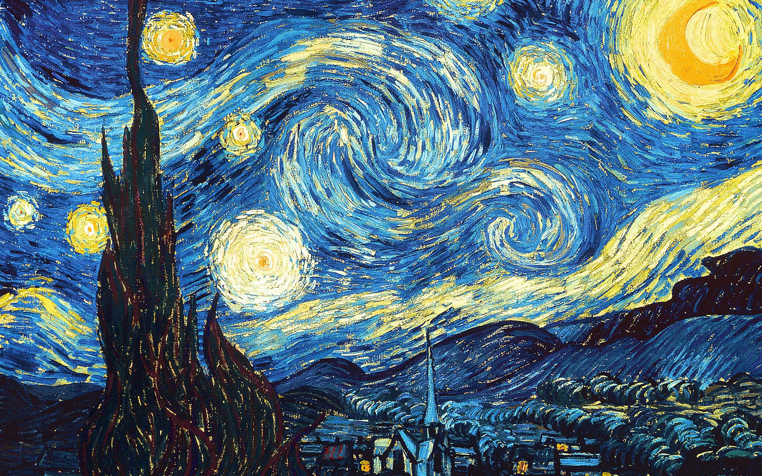 Gogh Original Vincent Starry Night Van Painting