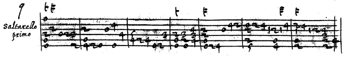 Vincenzo Galilei's Saltarello primo