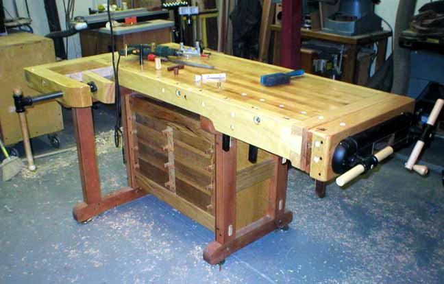 woodworking bench cabinet
