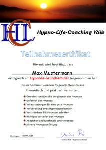Hypnosezertifikat
