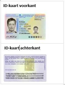 Eisen aan een kopie identiteitskaart