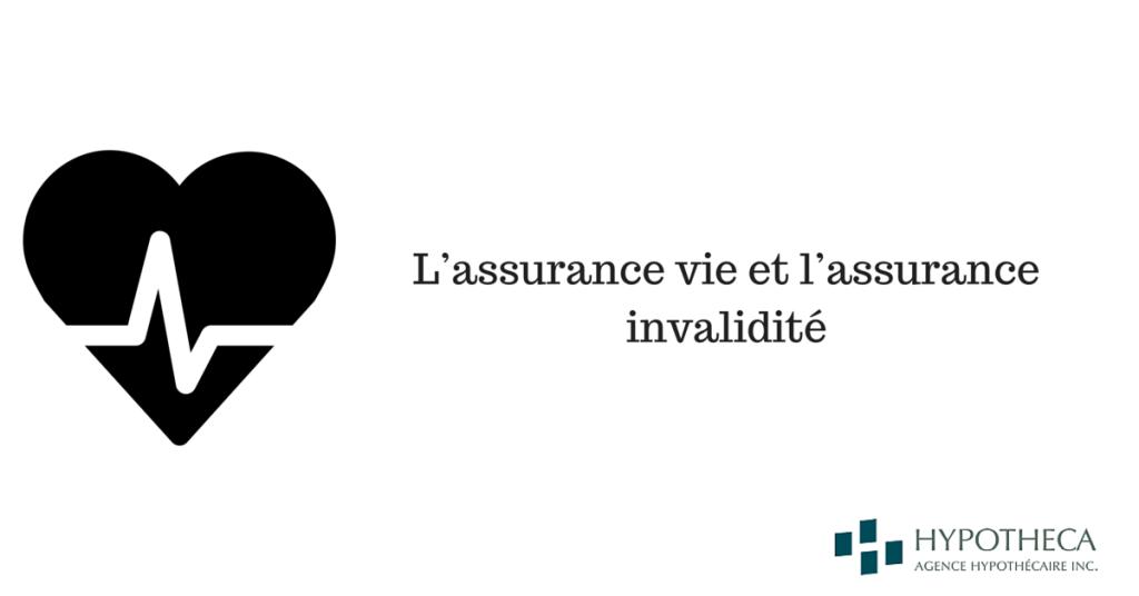 assurance vie et assurance invalidite