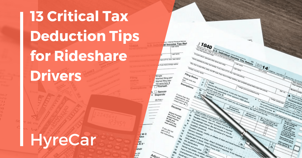 Ridesharing, rideshare, hyrecar, rent my car, car rental, mobility, rideshare driver tax, ridesharing tax, Uber tax, Lyft tax, driver tax