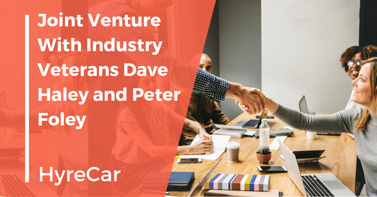 ridesharing, rideshare, hyrecar partnership, hyrecar joint venture, InsureTech