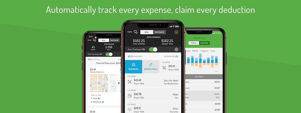 Auto track expense and claim deductions