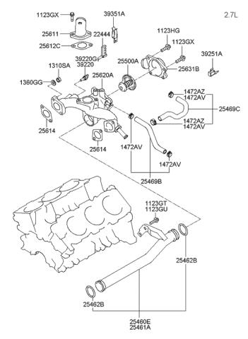 hyundai 25611 39000 replacement parts