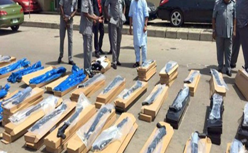 Nigeria Customs intercepts 470 pump-action rifles at Lagos Port