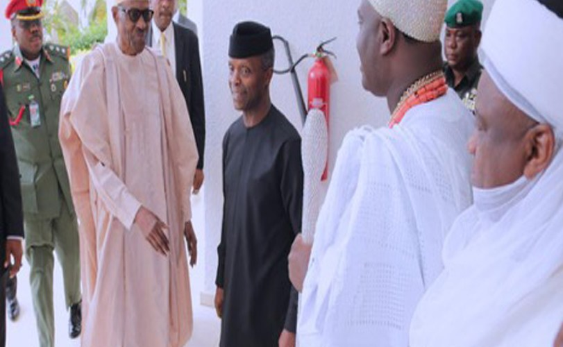 Buhari receives National Council of Traditional Rulers at State House
